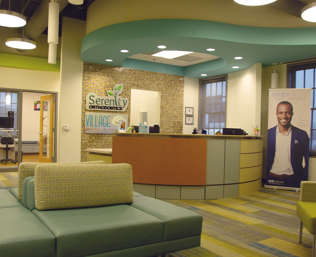 Welcoming dental office waiting room